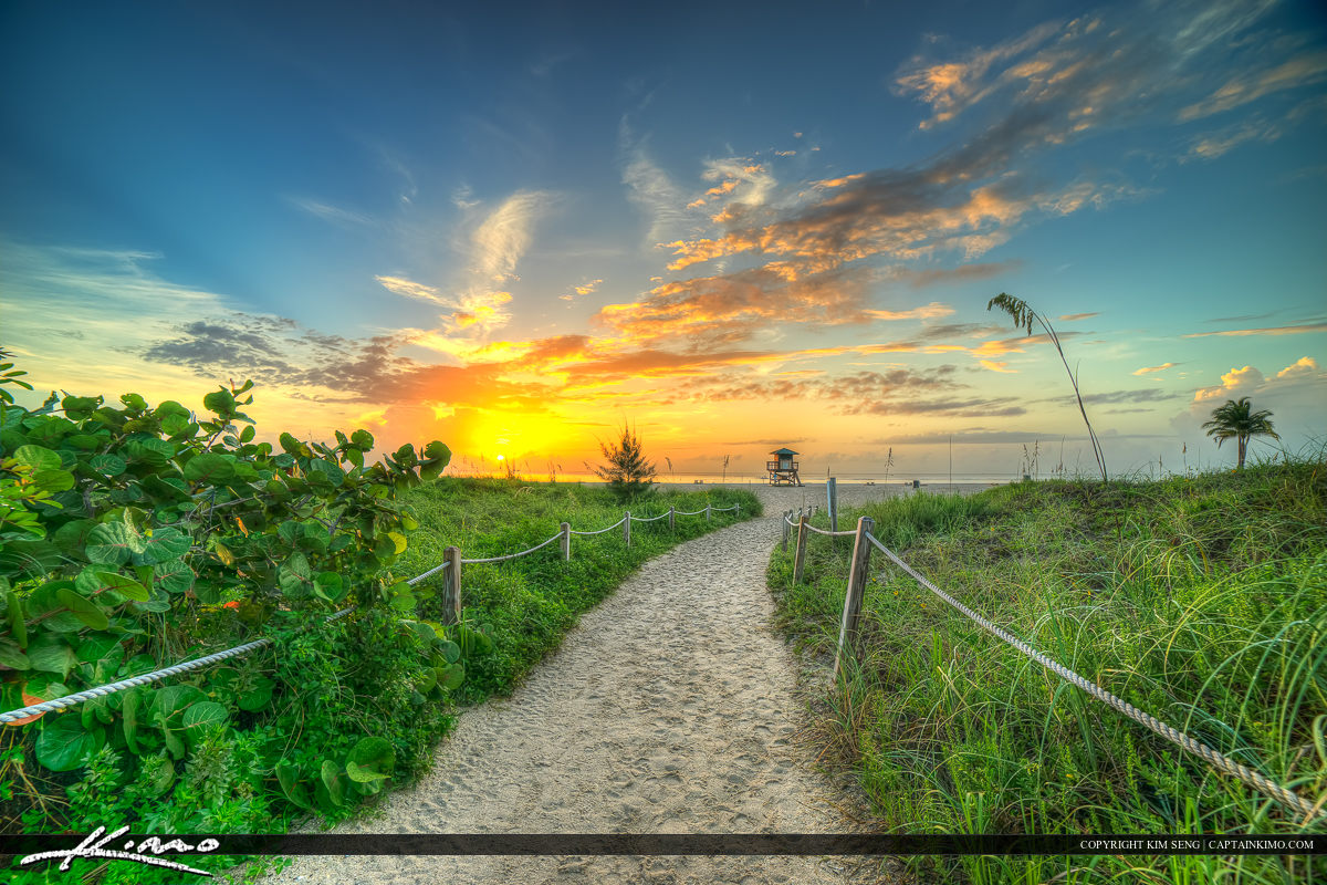 Path to Beach Singer Island Florida