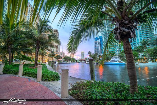 River Fort Lauderdale Riverwalk Downtown Watrerway