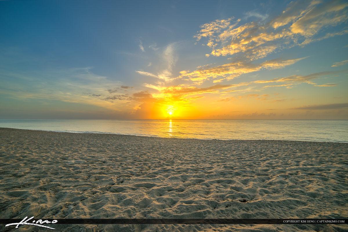 Riviera Beach City Park Sunrise Over Singer Island