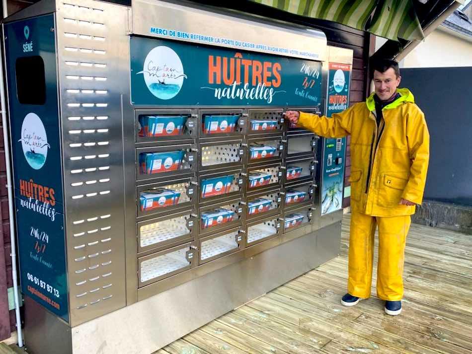 distributeur huitres - captain maree