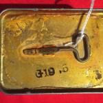 Emergency Ration tin, unopened Royal Canadian Navy 1945 (lifeboat ration) Bottom