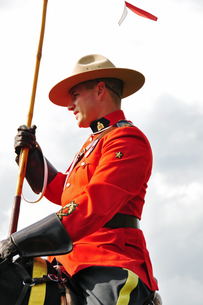 RCMP Musical Ride member at Langley 2013-08-24 Photo by Colin MacGregor Stevens