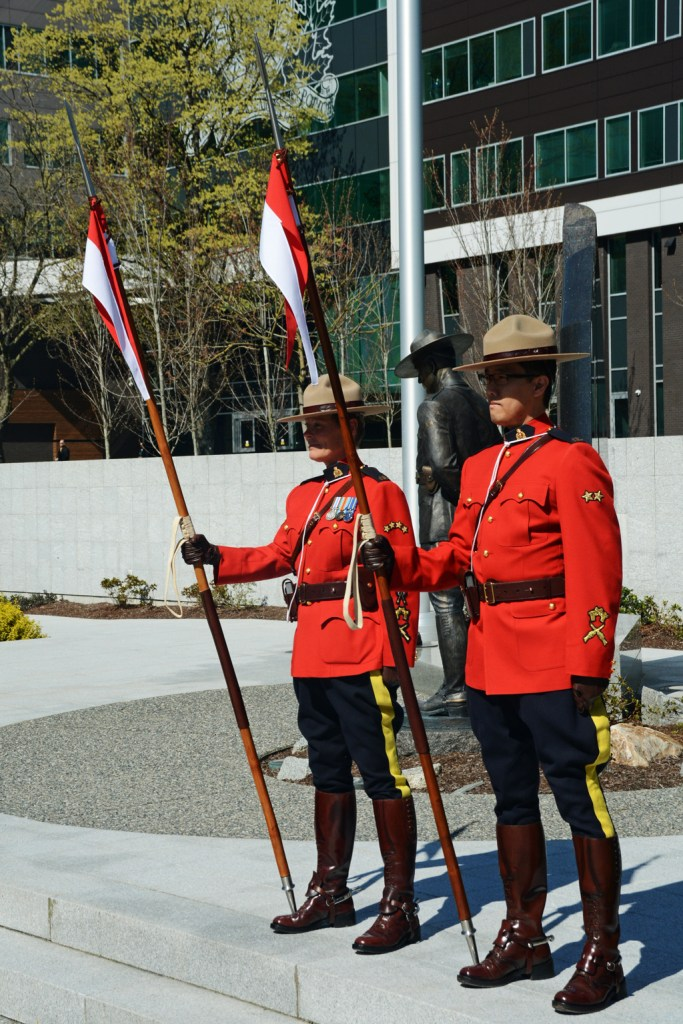 2016-03-31 RCMP sentries at the new mace ceremony, Surrey BC (34)