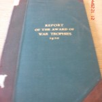 Report of the Award of War Trophies 1920