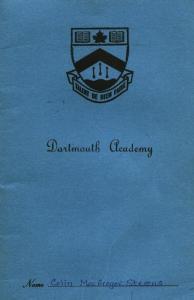 Dartmouth Academy Report Card - 1964