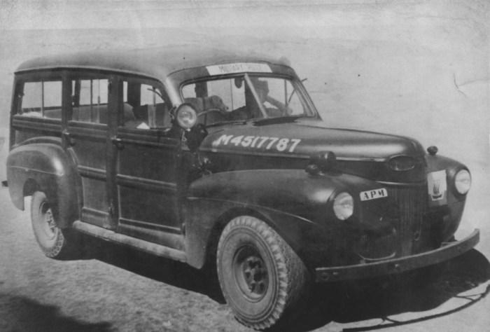 Woody wagon 1948 Tripolitania District Area Provost Marshall by John Watts