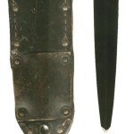 """1 Canadian Parachute Battalion """"Killing Knife"""" Note that the tip of the blade had broken off and it had been resharpened crudely. Formerly in Colin M Stevens' Collection."""