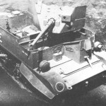 Universal Carrier, 2-Pounder Equipped. Test model in Canada is shown. Right 3/4 view is shown.