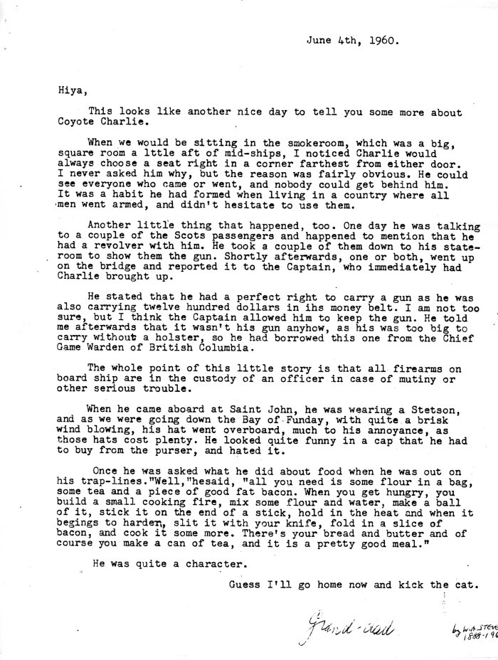 1960-06-04 Letters from Wm Arnott STEVENS