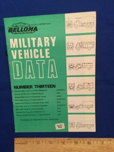 BELLONA MILITARY VEHICLE DATA NUMBER THIRTEEN