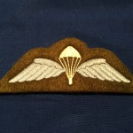 British parachute badge Pointy parachute and white back - REPRODUCTION