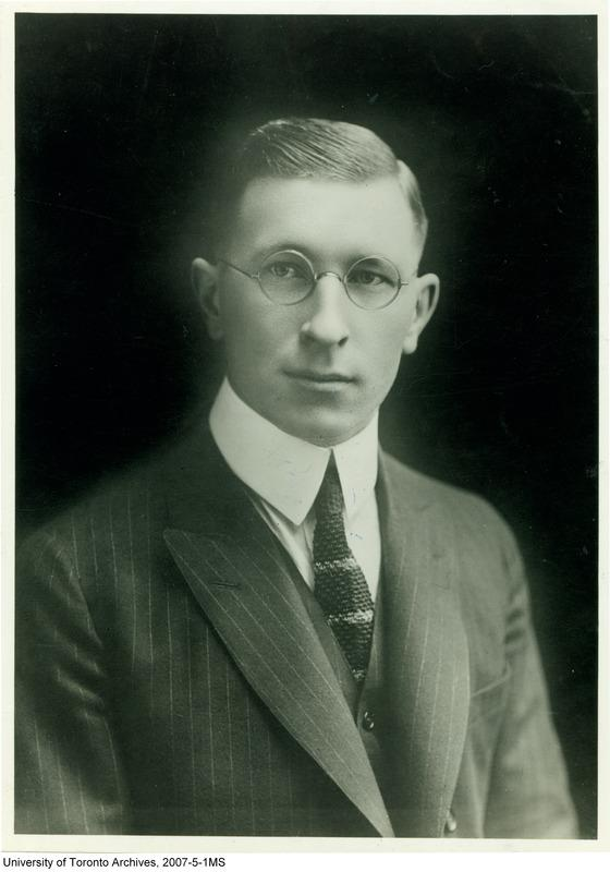 Dr Frederick Banting - (UofT Archives 2007-5-1MS)