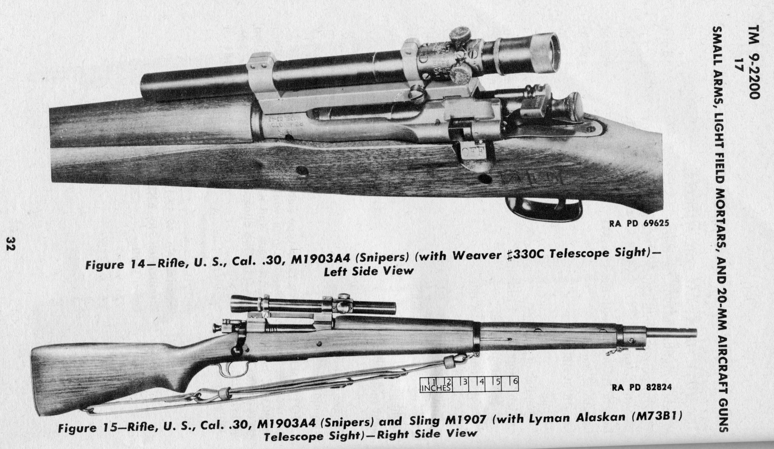 U.S. M1903A4 sniper rifle