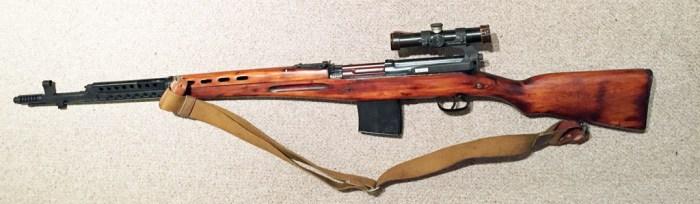 SVT-40 1941 SNIPER w 1941 scope SN -M257 left side