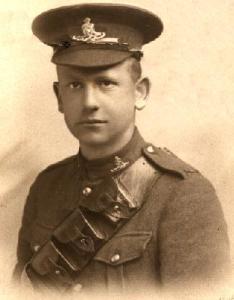 Harold Harty HEAKES circa 1917. McGill Siege Battery.