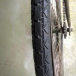 British Army BSA airborne bicycle, 2nd model, made circa 1943 serial number R37618 - WAR GRADE tire tread.