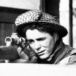 Looking at face of a Scottish sniper iWWII.