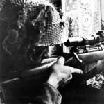 Sniper British at Caen France (SAIH from AWM 128643)