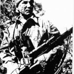 Sniper Sergeant Tommy Prince, PPCLI. He served with the FSSF in WWII and the PPCLI in Korea. He was Canada's most decorated native soldier. p394 HSAS