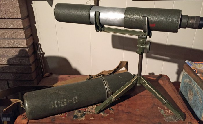 Telescope Observing Sniper's C MK I - Scope, stand and case. Colin M. Stevens Collection
