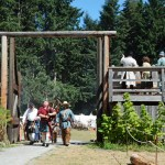 Fort Nisqually Brigade Days 2016 AUG (35) - The Fur Brigade entering Fort Nisqually.