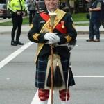 (38) Drum Major standing easy on parade on Burrard Street.