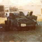Ferret 54-82578 after destruction in a hanger firer - rear view