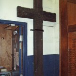 Seaforth Museum - WWI battlefield cross at entrance.