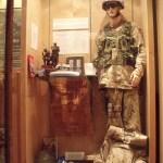 Seaforth Museum - Recent wars case featuring Captain Trevor Greene's Afghanistan worn uniform. July 2011