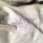 1942 British Airborne Sleeping Bag named Pte ROSS Signaller 3 Para Bde HQ MIA 1944-06-06 - /|\ WARING & GILLOW LTD. 1942 R W/|\D 28