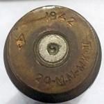 1942 20-MM shell INERT flat tip