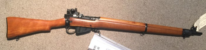 No4 Mk I star 3L6081 RCMP target rifle with original Canadian maple wood added.