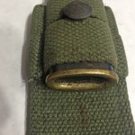 Mouth of bayonet scabbard.
