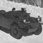 Ferret Mk. I on a wiinter road.