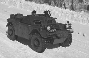Ferret Mk. I on a wiinter road.