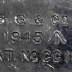 1945 British soap dish - Markings on lid