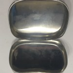 1945 British soap dish - Open showing the insides.