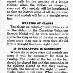 Page 8 - Information regarding mounting and wearing of decorations, campaign stars and medals, published by the Department of Veterans Affairs Canada circa 1945.