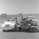 Ferret 54-82556 escorting a convoy in Cyprus 1968 (CYP68-149)