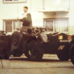 Major-General G. P. Vanier, DSO, MC, CD, Inspects the Escort. Photo via WO II McKay to __ Archives)