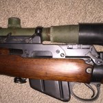 C No. 67 Mk. I serial number 52-C mounted on rifle 80L8006. the rubber eye shield is turned the wrong way in this photo.