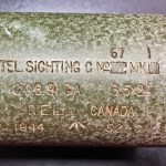 REL C No 67 MK I scope SN 52-C showing the markings.