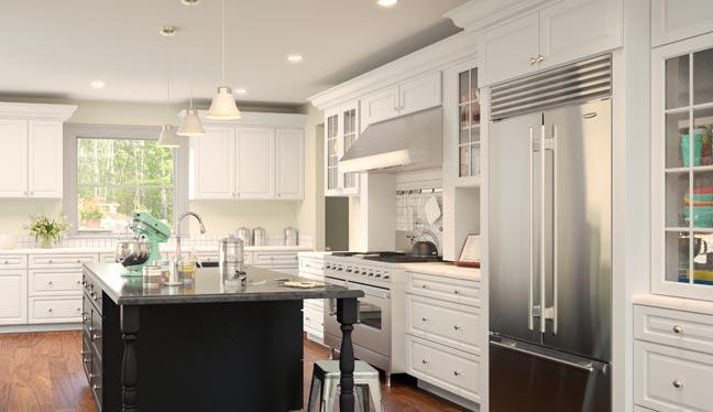 kitchen cabinets rta stone island captain shop online wholesale bath gramercy white