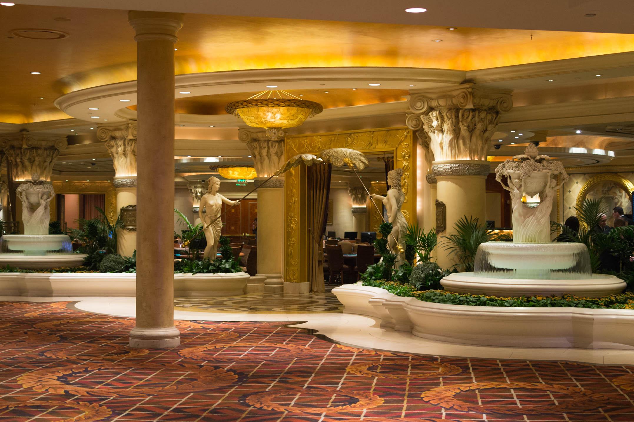 La décoration intérieure du Bellagio