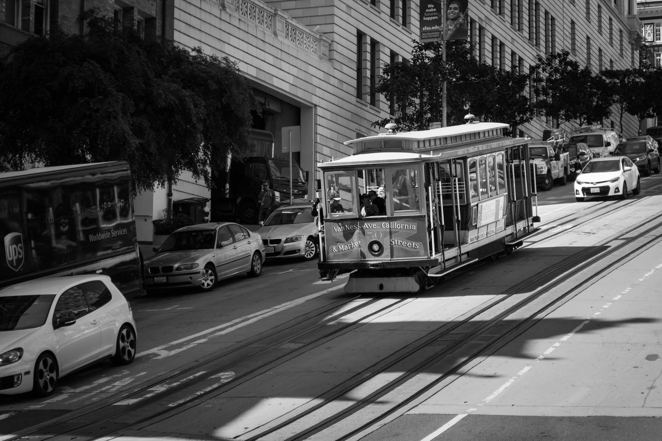 Le Cable Car en descente