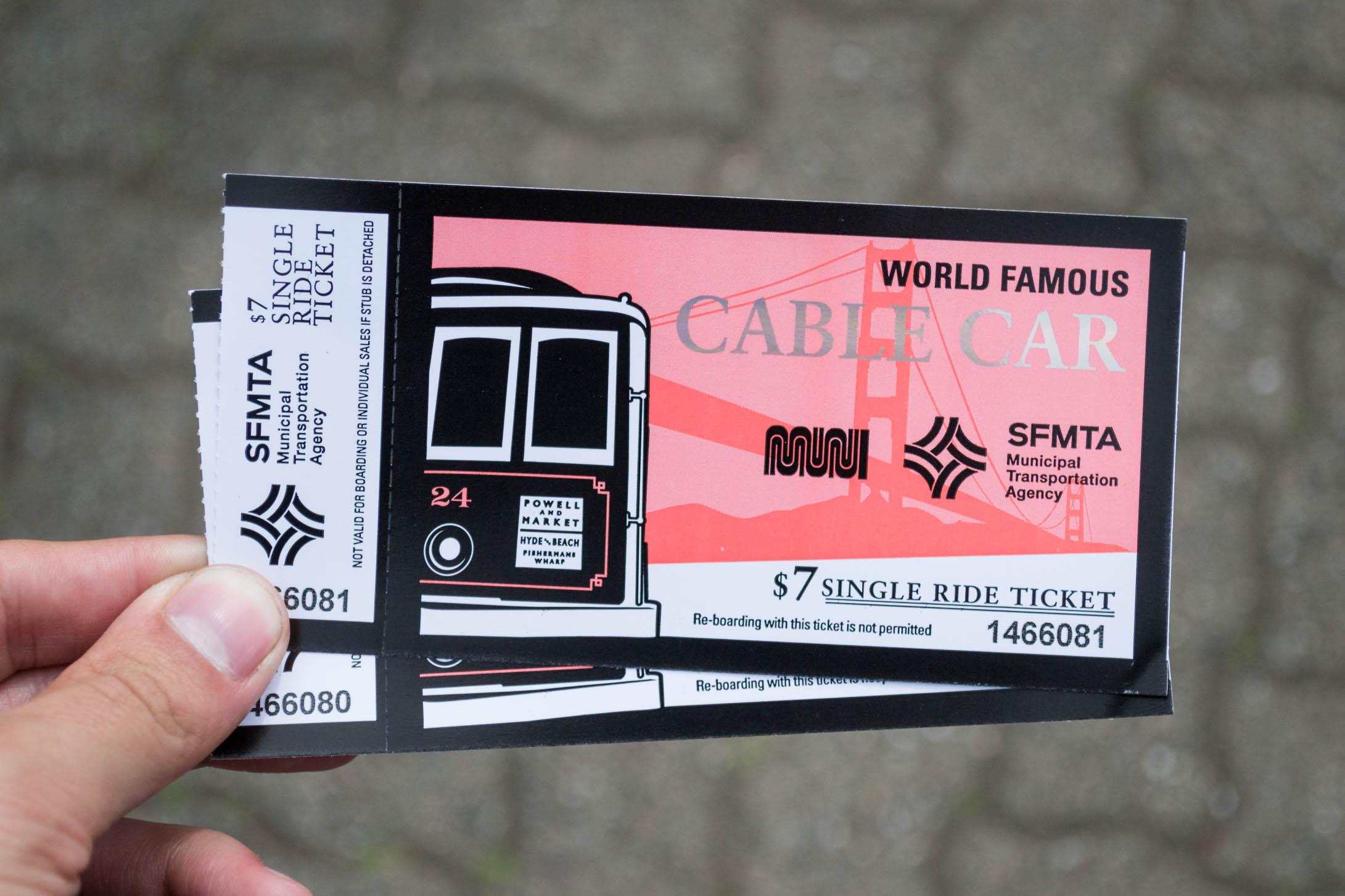 Les tickets du Cable Car sont carrément stylés