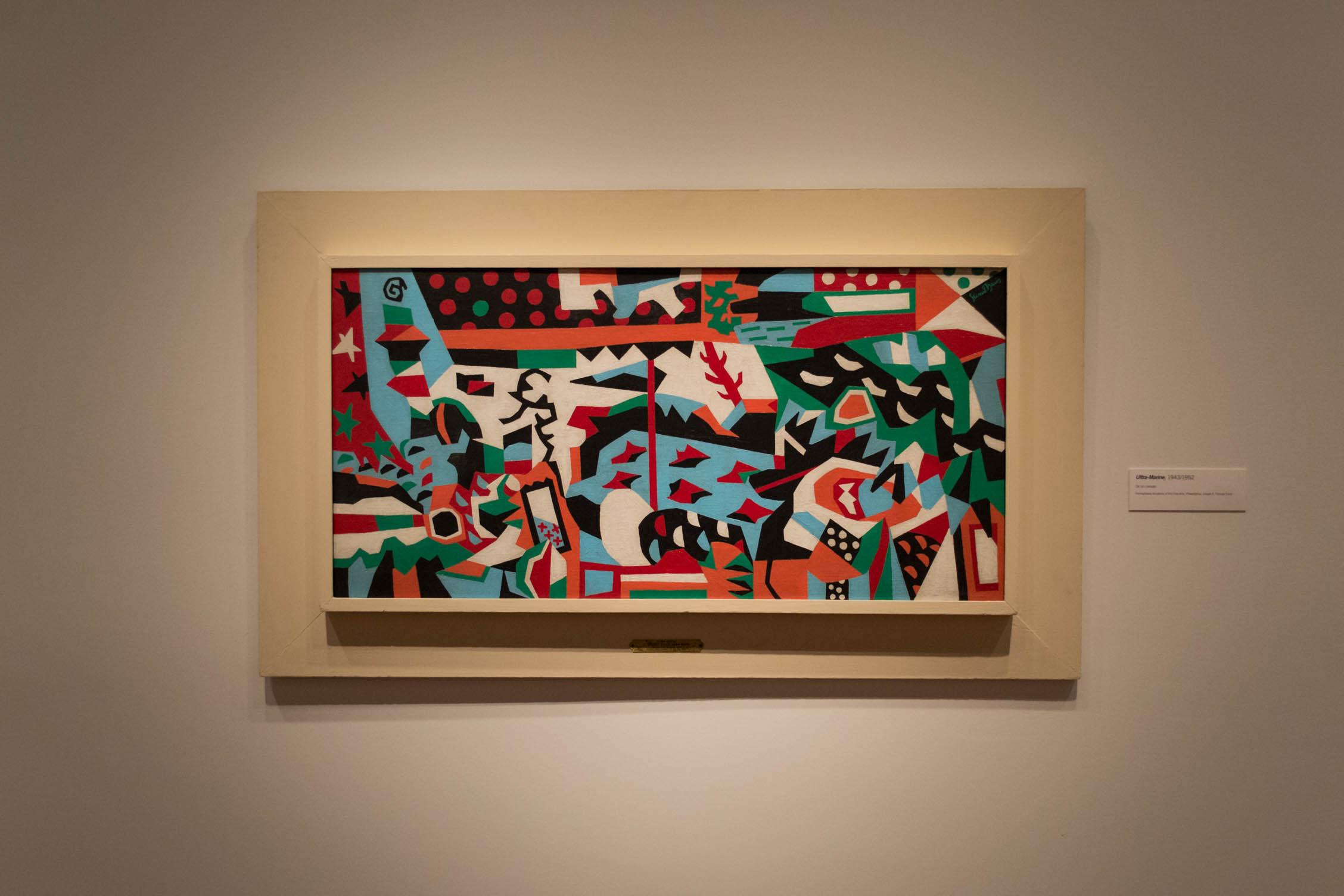 Une des toiles de l'exposition de Stuart Davis