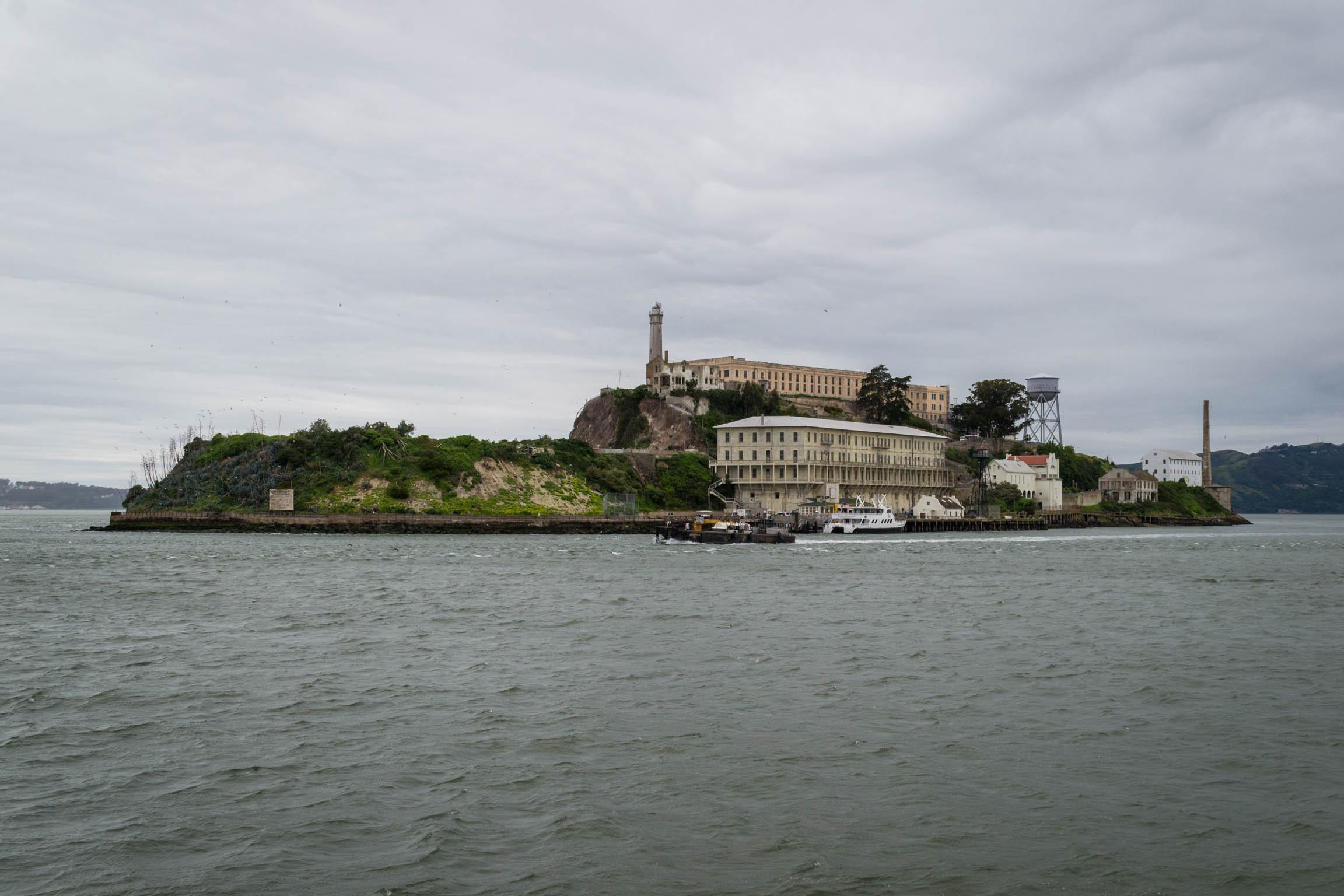 Lîle d'Alcatraz depuis la navette