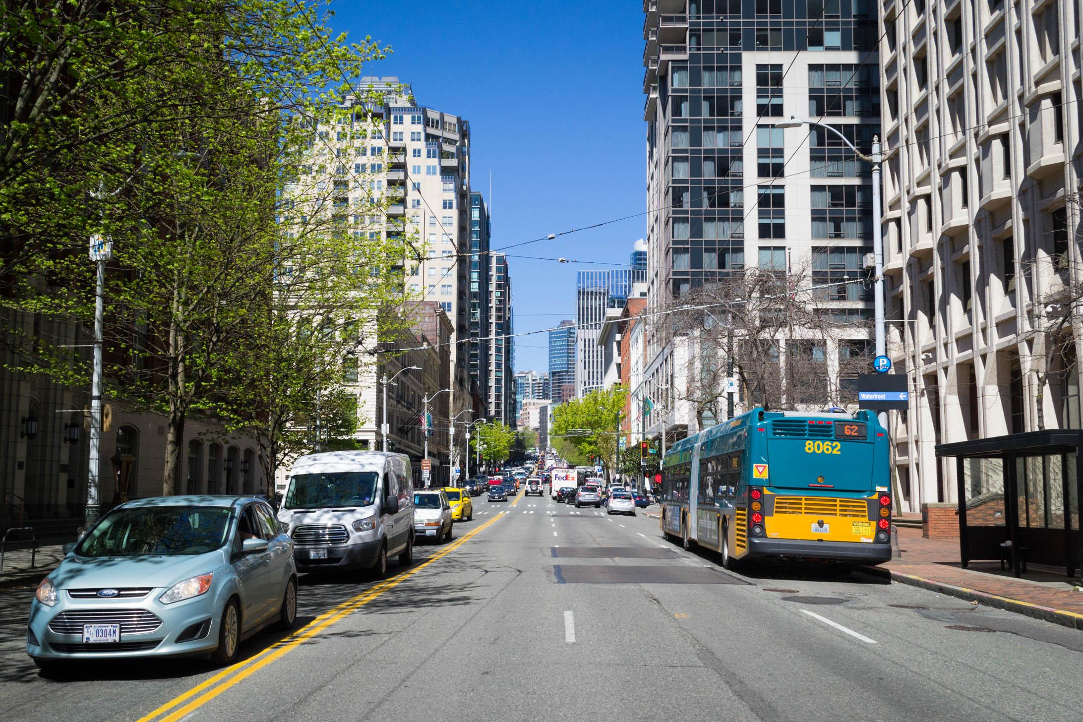 Seattle au milieu du Downtown