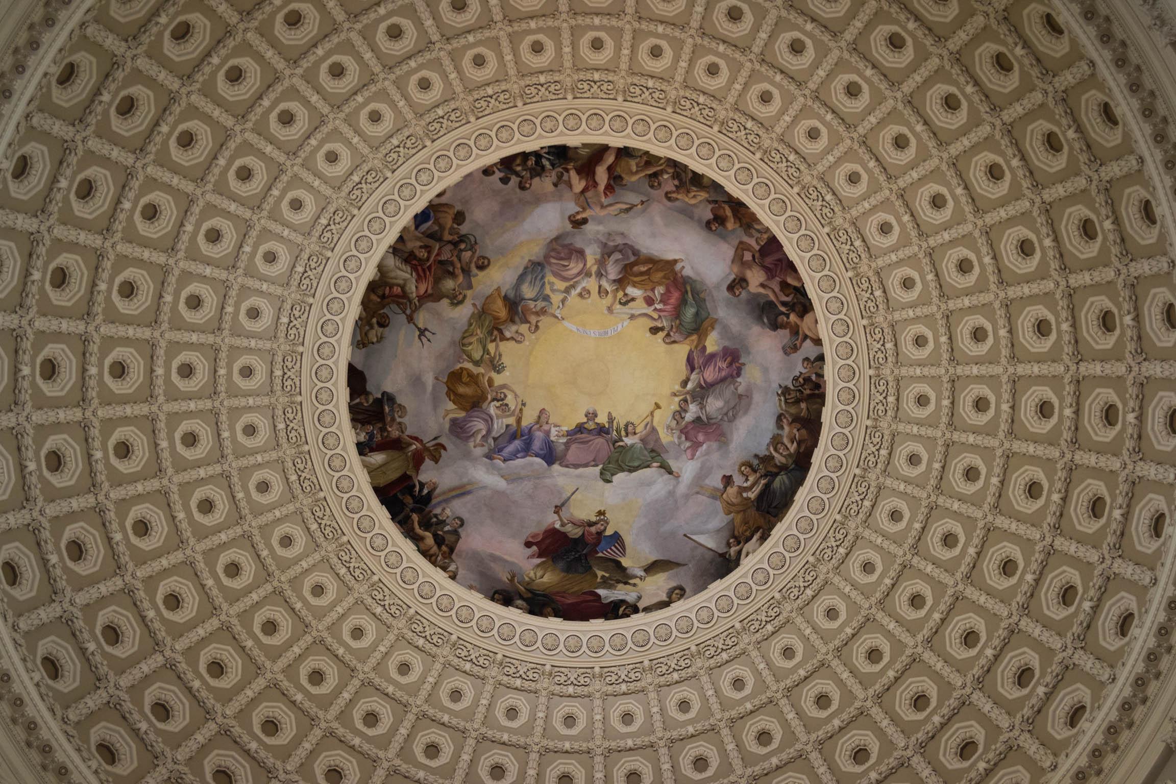 La coupole du Capitole vue de l'intérieur